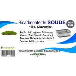 Bicarbonate de soude extra pur 100% alimentaire seau 1KG Ingrédients de cuisine et pâtisserie PREFOR PR-60404000