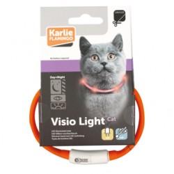 Collier pour chat visio light led orange collier laisse cage Flamingo FL-64965