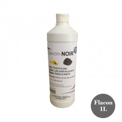 botella de jabón negra de 1 litro. Producto natural PREFOR PR-90151000