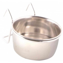Stainless steel feeder with stand 150 ml ø7 cm Feeding troughs, Trixie TR-5493 water trough