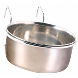 Comedero de acero inoxidable con soporte 600 ml ø12 cm Comederos, Trixie TR-5495 Comedero de agua