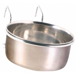 Trixie TR-5495 Stainless steel feeder with holder 600 ml ø12 cm Feeding troughs, watering troughs
