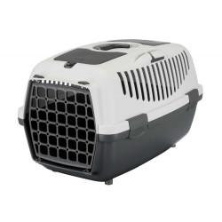 TR-39821 Trixie Caja de transporte, Capri 2, para perros pequeños, Tamaño XS-S, 37 por 34 por 55 cm, gris. Jaula de transporte