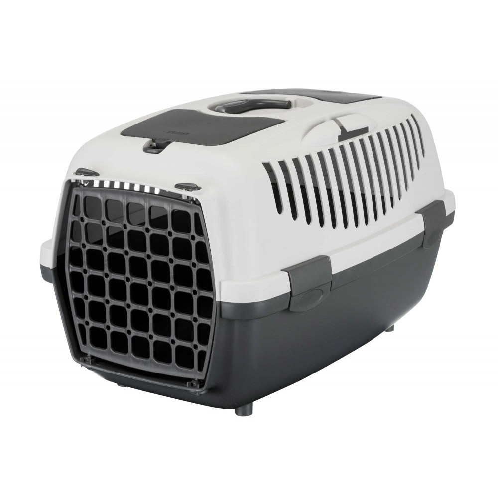 Trixie TR-39821 Transport box, Capri 2, for small dogs, Size XS-S, 37 by 34 by 55 cm, grey. Transport cage