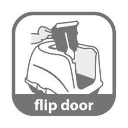 Maison de toilette Loki noir 38 x 50 x 37 cm pour chat accessoire litière Flamingo FL-560732