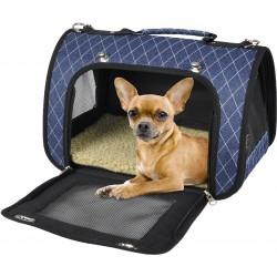 Sac de transport Audrey 36 x 21 x 23 cm pour petits animaux chat ou chien collier laisse cage Flamingo FL-518126