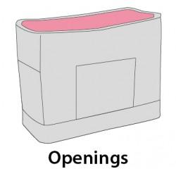 Sac de transport Jeanie 39 x 19 x 30 cm pour petit chien Transport Flamingo FL-518526