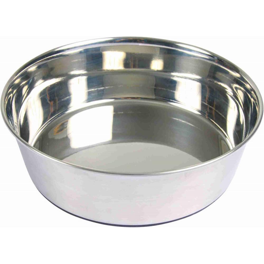 Écuelle en acier inox 1.7 l / ø 21 cm pour chien Accessoire alimentaire Trixie TR-25073