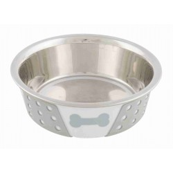 Trixie TR-25255 400 ml, Stainless steel bowl with silicone and pattern, for dog or cat, ø 14 cm. Bowl, bowl, bowl