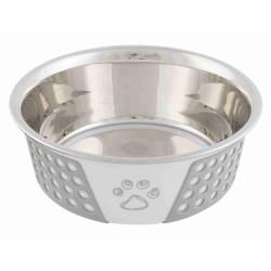 Trixie 0.75 L ø 17 cm Écuelle en aciex avec silicone et motif pour chien ou chat TR-25256 Gamelle, écuelle