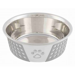 Écuelle en acier inox avec silicone et motif 0.75 L ø 17 cm pour chien ou chat Accessoire alimentaire Trixie TR-25256