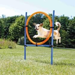 TR-3208 Trixie Anneau Agility pour chien 115 × ø 3 cm, ø 65 cm Perro de agilidad