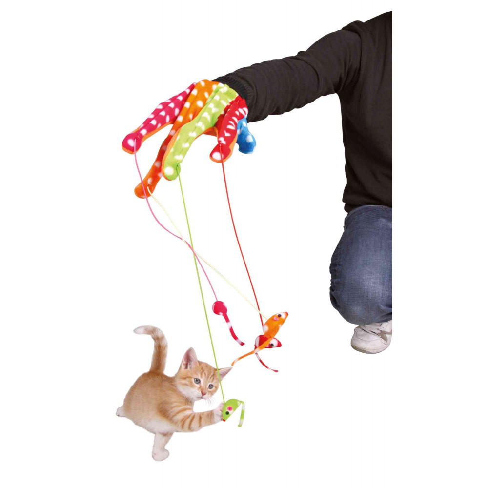 Trixie TR-45631 Glove with mouse for cat Games
