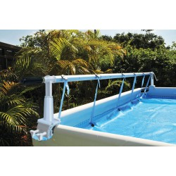 kokido Solar Cover Roller for Above Ground Swimming Pools. Solaris II Reel and tarpaulin