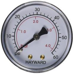 HAYWARD Manomètre NPT Métal Hayward ECX27091 - ECX2712B1 SC-HAY-061-4087  Manomètre