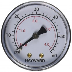 HAYWARD Manometro da fieno in metallo NPT ECX27091 - ECX2712B1 SC-HAY-061-4087  Manometro
