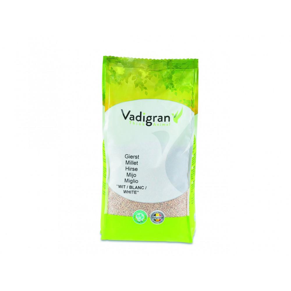 Graines pour OISEAUX millet rond blanc 1Kg Nourriture Vadigran VA-204010