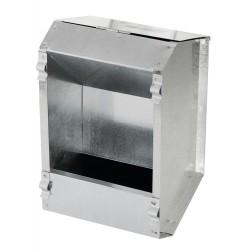 KE-74101 kerbl Dispensador Alimentador Automático para conejos 2.2 Litros en Acero Galvanizado Tazones, distribuidores