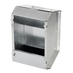 kerbl Distributeur de Nourrisseur automatique pour lapins 2.2 Litres en galva KE-74101 Gamelles, distributeurs