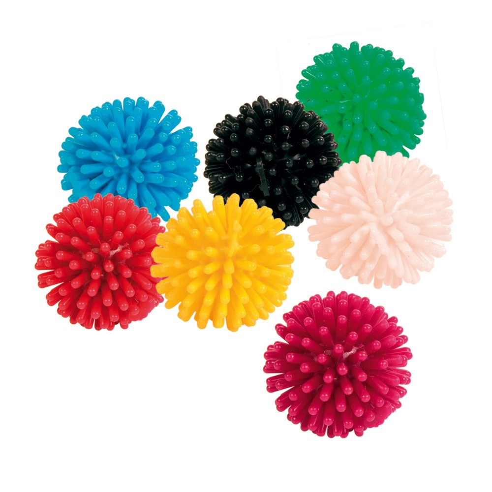 Trixie TR-4125-X7 7 hedgehog balls, cat vinyl Games