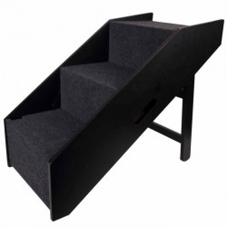 Flamingo Rampe et escalier pour chien Noir 62 x 36 x 51 cm FL-515222 Accessibilité
