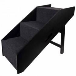Flamingo Pet Products Rampe et escalier pour chien Noir 62 x 36 x 51 cm Rampe et escalier