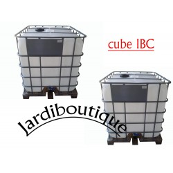 Two IBC 1000L tanks for water reserve (no delivery in Corsica or island) ibc tank Jardiboutique SIBC1000-X2