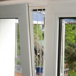 lot 2 Grilles de protection pour fenêtre (oscillo-battant) métal (coté) Sécurité Trixie TR-4416-X2
