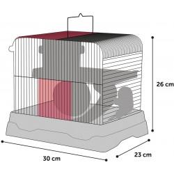 Cage pour hamster dinky grise 30 x 23 x 26 cm Cage Flamingo FL-210148
