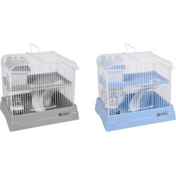 Flamingo Cage pour hamster dinky grise 30 x 23 x 26 cm FL-210148 Cage
