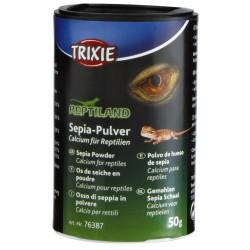 Lot de 3 pots Os de seiche en poudre 50 gr - Calcium pour reptile Nourriture Trixie TR-76387-x3