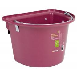 kerbl Mangeoire de porte avec anse de transport 12 Litres rose pour chevaux Chevaux