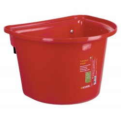 kerbl Mangeoire de porte sans anse de transport - 12 litres couleur rouge Chevaux