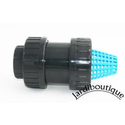 Plimat ø 32 - 1 Zoll, Schmutzfänger mit PVC-Rückschlagventil SO-CARC32 siebklappe