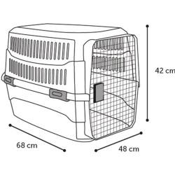 Flamingo Cage de transport, taille M 48 X 68 X h 42 cm .CARGO, couleur noir FL-517575 Cage de transport