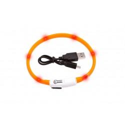 Collier pour chat visio light led orange 35 cm Collier, laisse, harnais  Flamingo FL-64965