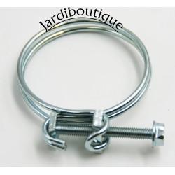 Ø 38.5 a 43 mm collier de serrage double fil avec vis ACIER ZINGUÉ arrosage Générique  SO-CDF43