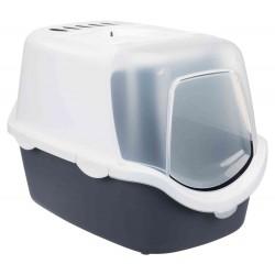 Trixie Maison de toilette Vico Open Top. couleur grise et blanche. pour chat. Maison de toilette