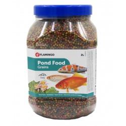 FL-1030469 Flamingo 2 litros, alimento para peces de estanque, agregado. Comida y bebida