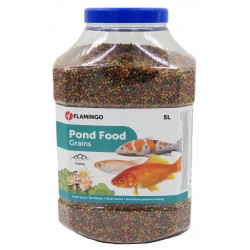 Flamingo Pet Products Fischfutter für Teiche, Wasserteiche. Granulat - 5 Liter FL-1030471 Essen und Trinken
