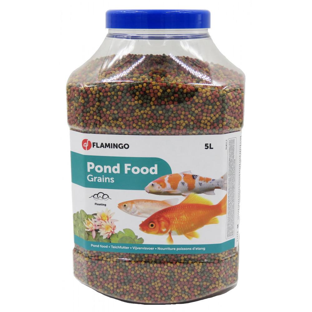 Nourriture d'étang, bassin aquatique granulats - 5 Litres Nourriture  Flamingo FL-1030471