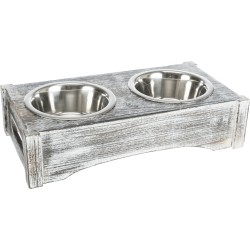 2 × 0.75 litres. Set of bowls 42 × 10 × 22 cm,, ø 15 cm Bowl, double bowl Trixie TR-24358