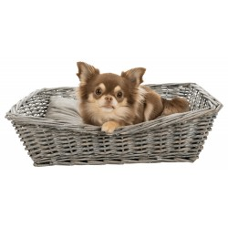 Trixie TR-28091 Wicker basket 50 x 37 cm with small dog or cat cushion Dodo