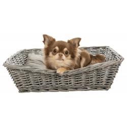 Trixie Wicker basket with cushion 50 x 37 cm small dog or cat Dodo
