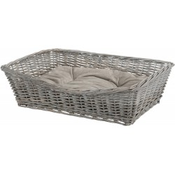 Trixie TR-28093 Wicker basket 70 x 50 cm with dog cushion Dodo