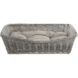 Trixie TR-28094 Wicker basket 80 x 58 cm with dog cushion Dodo