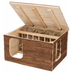 Trixie TR-61803 Hilke house with integrated hay rack for rabbit, guinea pigs and rabbits Bowls, distributors