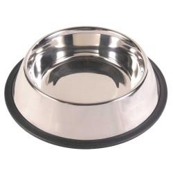 Trixie 0.70L ø 21cm gamelle en acier inox antidérapante pour chien TR-24852 Gamelle, écuelle