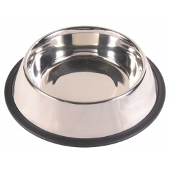 Trixie 1.75L ø 30cm gamelle en acier inox antidérapante pour chien TR-24854 Gamelle, écuelle