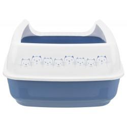 Bac à litière Delio Bleu et blanche 49.5 x 38 x 20 cm pour chat Bacs a litière Trixie TR-40391